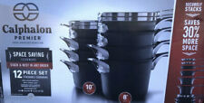 """Calphalon Premier 12Pc Hard Anodized Nonstick Space Saving Cookware New """"Other�"""