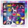 Rainbow Dreams 25 Piece Unicorn Mermaid Narwhal 3D Erasers 3-D Eraser 25 Pc Set