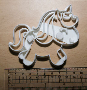 Full Body Unicorn Cookie or fondant  Cutter 3d printed