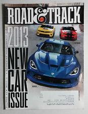 2012 SEPTEMBER ROAD & TRACK CAR MAGAZINE DODGE VIPER CAMARO ZL1 MUSTANG GT500