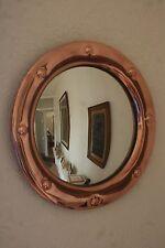 Arts & Crafts Specchio parete convesso in rame