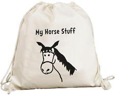 My Horse Stuff Design - Natural (Cream) Cotton Rucksack / Backpack / Bag