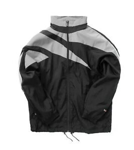 Reebok x MISBHV Black Reflective Grey Windbreaker Jacket FT6004 Large