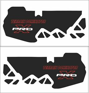POLARIS tunnel decal GRAPHIC terrain dominator  800 600 PRO S X AXYS 120 137 red