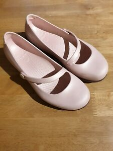 Pearly Pale Pink Mary Jane Genuine Crocs W9 39-40