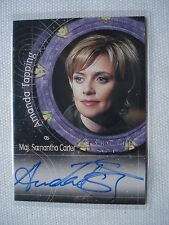 Stargate Samantha Carter s4 Autograph A. Maschiatore a11