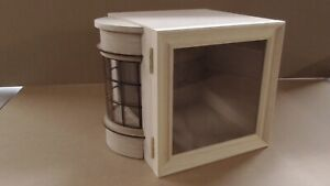 1/12 scale Dolls House Room Box with Bow window & Glazed Picture Frame Opening