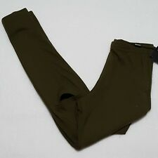NWT Misguided Sz 4 Leggings CUT OUT Knee Army Green Yoga Stretch Womens New