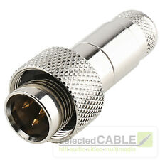 HICON Mini-XLR 3-pol IP67 schraubbar robust Überwurfmutter Stahl | HI-XMCM3-HD
