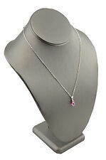 Leatherette Necklace Bust Jewellery Shop Chain Display 11 inch Tall BD1892RSG