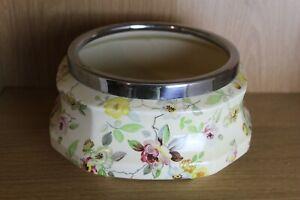 Parrott & Company Coronet Ware Rose Spray octagonal fruit bowl