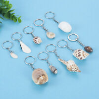 2Pcs Random Handmade Natural Craft Sea Shells Keyring Fashion Seashells Decor