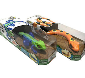 Zuru Robo Alive Set Of 2 - Slithering Snake & Lurking Lizard Robotic Toy Pet Lot
