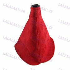 Shifter Boot Cover JDM Bride Racing MT/AT Shift knob Red Stitches Hyper Fabric