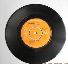 "ELVIS PRESLEY The Wonder Of You Ex  RCA 1970 UK 7"" EXC"