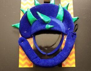 Dinosaur ~ 2 Piece Plush Costume  Halloween Party  Headband and Tail Dress Up
