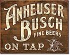 Anheuser Busch Budweiser Bud Retro Beer Bar Decor Made USA 16x12 Metal Tin Sign