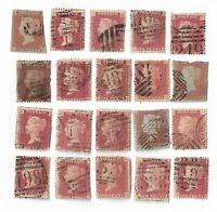UK Queen Victoria Penny Red stamps x 20  (All damaged) Batch 1