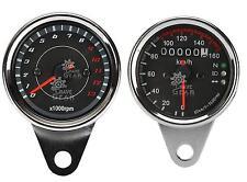LED Motorcycle Universal Tachometer Tacho Gauge + Odometer Speedometer For Honda