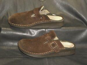 Tatami by Birkenstock brown suede leather closed toe mule Women's shoes sz EU 39