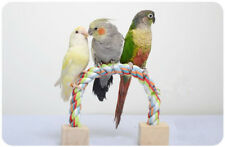 Portable Parrot Perch Parrot Training Toy Cotton Rope Stick Stand Bird toy D255