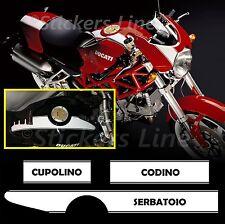 Adesivi moto strisce LATERALI Ducati Monster fasce adesive DUCATI S4R S4RS bande