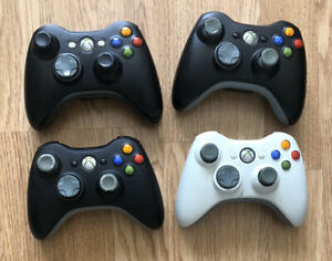 4 x Official Microsoft Xbox 360 Controllers Untested Don't Have Battery Packs