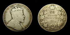 Canada 1910 Fifty 50 Cent Piece King Edward VII G-6