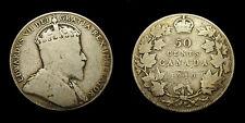 Canada 1910 Fifty 50 Cent Piece King Edward VII G-6