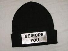 BNWOT - ZARA Ladies Knitted Beanie Hat  Be More You  Black