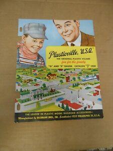 vintage 1959 plasticville model railroad o & s gauge catalog prices