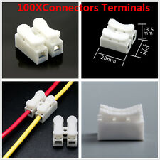 100Pcs Self Locking Electrical Quick Splice Cable Connectors Lock Wire Terminals