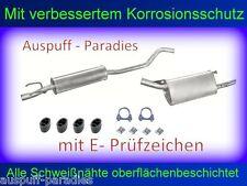 Abgasanlage Auspuffanlage für Opel Corsa B 1.0i 12V (Typ 73_, 78_, 79_) + Kit