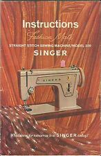 Singer Model 239 Sewing Machine Owner's Instruction & Use Manual on CD-R in .pdf