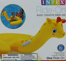 Intex Baby Giraffe Ride On 52x42 Ages 3 + Durable Handles NIB