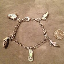Judith Jack Shoe Charm 925 Silver Braslet. Very Cute And Rare!