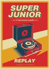 SUPER JUNIOR - REPLAY (Vol.8 Repackage) CD+Folded Poster+Free Gift+Tracking no.