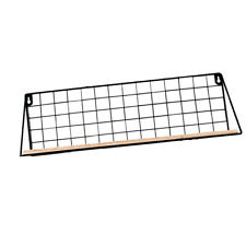Metal Grid Floating Shelves Wall Mount Display Rack Organizer Storage Shelve