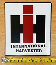 "2 International Harvester Fade Resist 5.7"" Vinyl Decal Stickers & Free Usa Flag"