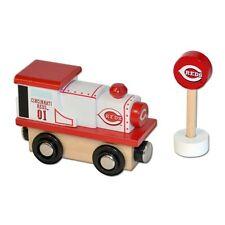 MLB Cincinnati Reds Wood Train Engine Toy Train MLB Edition