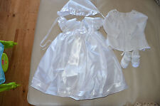 White christening dress with hat for Girl age 0-6 months