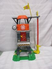 Fisher price Rescue Heroes tower w/green base red pole yellow flag orange fun