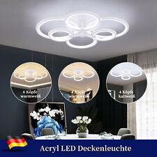 Modern LED Deckenleuchte Runder Kronleuchter Schlafzimmer Deckenlampe Wohnzimmer