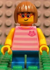 Lego City 60134 Fun in the Park GIRL w/ Glasses Pink Shirt short legs minifigure