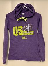 Figure Skating Women's Small S Purple Hoodie Hooded Tee Shirt Nationals 2016