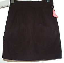 NEW South Sz 12 Black Mole skin velvet feel Pencil Wiggle Midi Mini Skirt School