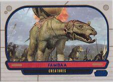 star wars galactic files serie 1 blue parallel #298 fambaa 159/350