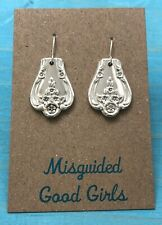 Plated Earrings * International Magnolia aka Inspiration 1951 Silver