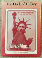 The Deck Of Hillary Clinton Unopened Playing Cards Newsmax.com 2003