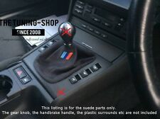 FOR BMW E36 E46 M3 GEAR GAITER SHIFT BOOT FAUX SUEDE EMBROIDERY M3 SIGN